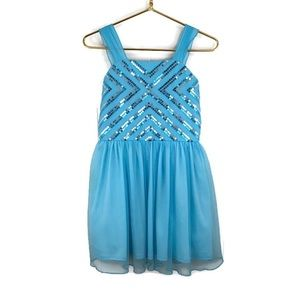 Amy's Closet Turquoise Sequin Party Dress
